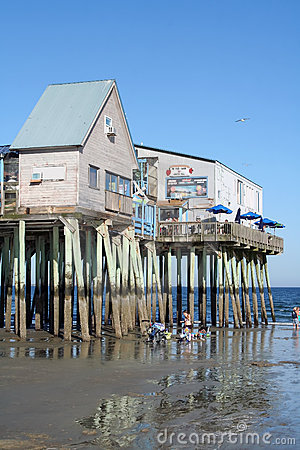 Pier at Old Orchard Beach, Maine Editorial Stock Photo