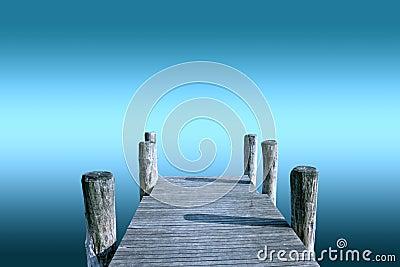 Pier  over infinite