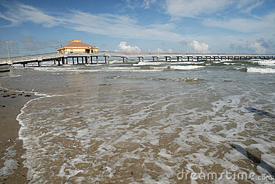 Pier on Padre Island, Southern Texas