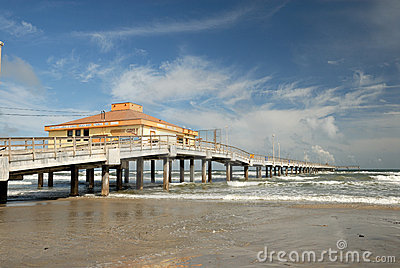 Pier on Padre Island, Texas USA