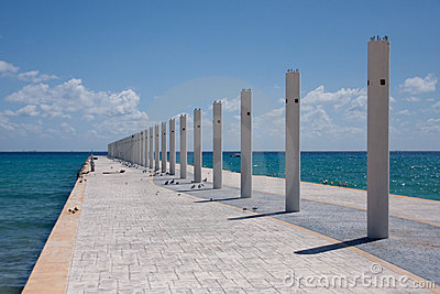 Pier at Playa Del Carmen, Mexico