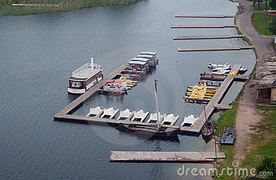 Pier with pleasure boats