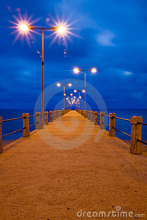 Pier in Porto Santo by twilight