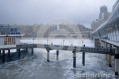 Pier scheveningen in Holland