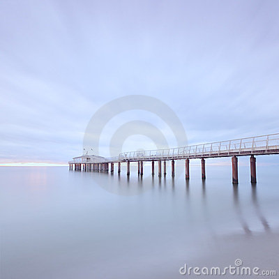 Pier sea long exposure Camaiore versilia tuscany