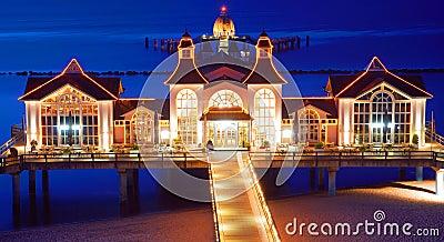 Pier of sellin on ruegen island