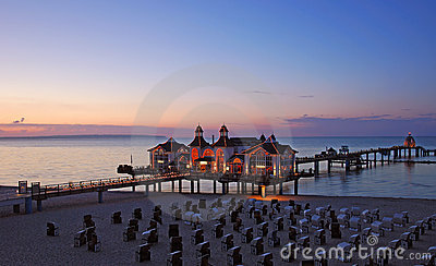 pier of sellin,ruegen island,germany