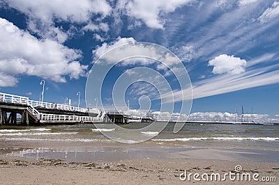 Pier in Sopot Editorial Stock Image