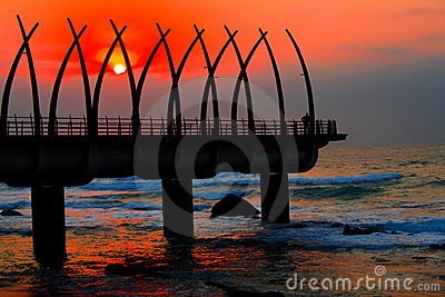 Pier and sunrise