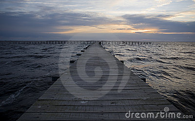 Pier at sunshine