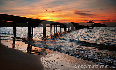 Pier to the sunset