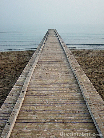 A pier towards the infinity