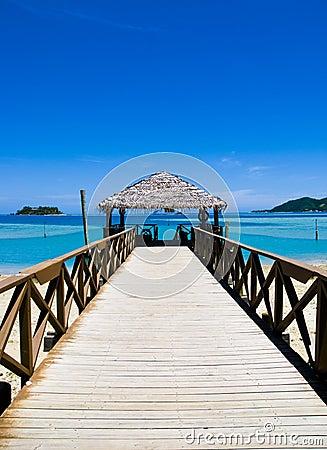 Pier on a tropical beach