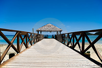 Pier on a tropical beach