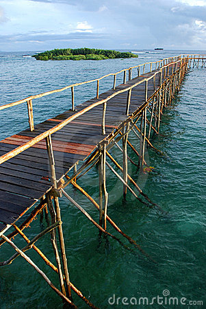 Pier in tropical water