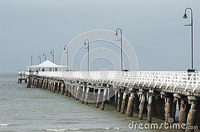 Pier under the rain