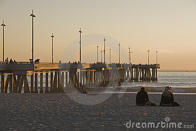 Pier at Venice Beach California at Sunset