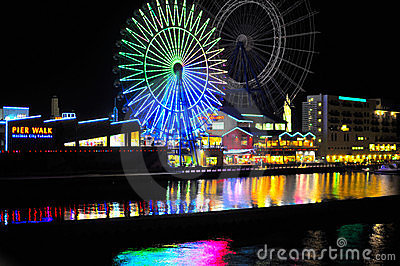 Pier Walk in Fukuoka, Japan Editorial Stock Image