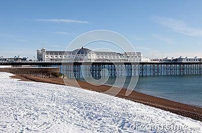 Pier winter snow brighton