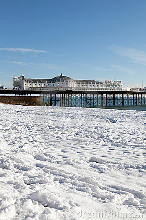 Pier winter snow brighton