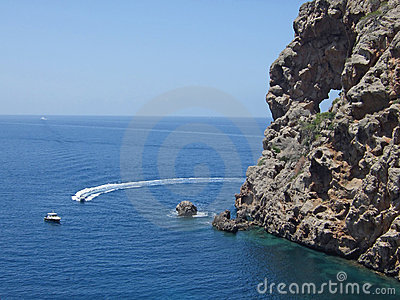 Pierced rock at Sa Foradada, Majorca
