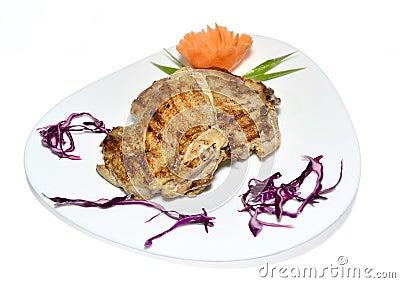 Pierna de pollo asada a la parilla