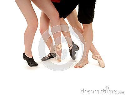 Piernas y estilos de la danza