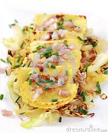 Pierogi with sauerkraut