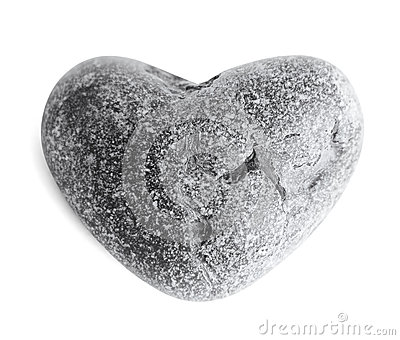 pierre en forme de coeur de mer caillou sur le blanc photo libre de droits image 27390675. Black Bedroom Furniture Sets. Home Design Ideas