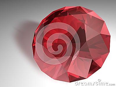 Pierre gemme rouge