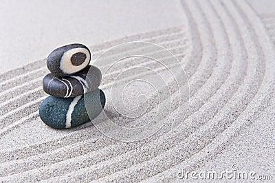pierre japonaise de jardin de zen images stock image 23026874. Black Bedroom Furniture Sets. Home Design Ideas