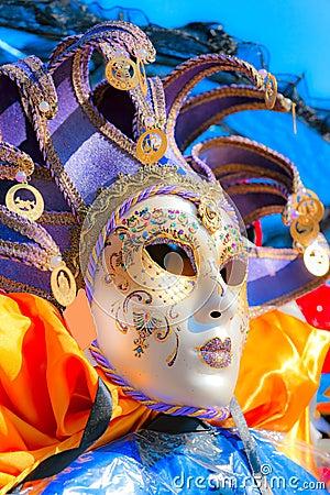 Free Pierrot Venice Masks, Carnival. Stock Photos - 28417963