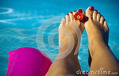 Pies de piscina