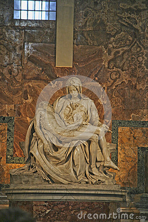 Pieta Statue, Vatican City Editorial Stock Photo