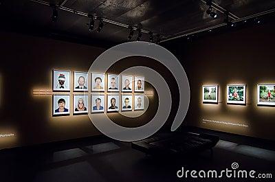 Pieter Hugo exhibition in Stockholm Editorial Stock Photo