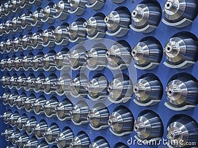 Piezas trabajadas a máquina acero