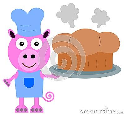 Pig bakes