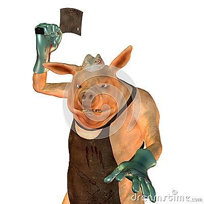 A pig is a butcher