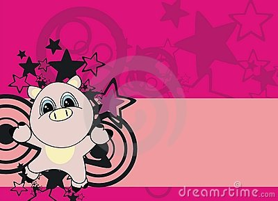 Pig cartoon background
