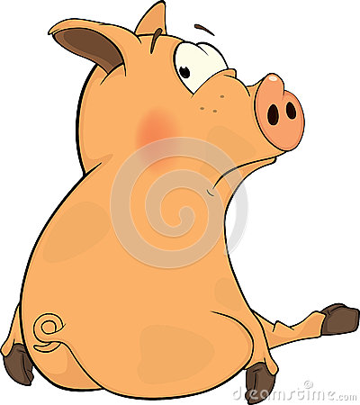 Cute Cartoon Pigs With Big Eyes Cute Cartoon Pigs With Big Eyes