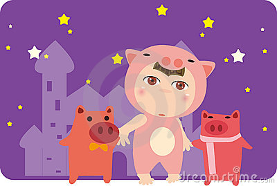 Pig and child