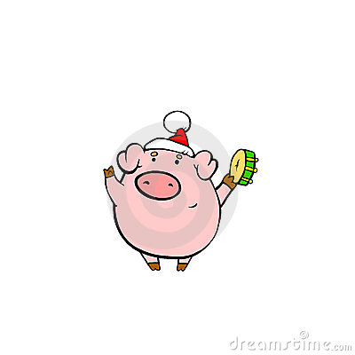 Pig on Christmas