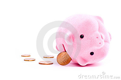Pig and coins