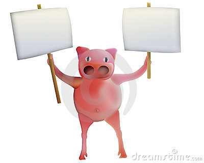 Pig with empty boards