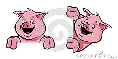 Pig frame decoration