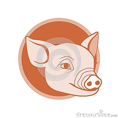 Pig icon design