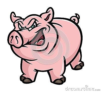 Pig pink sneer