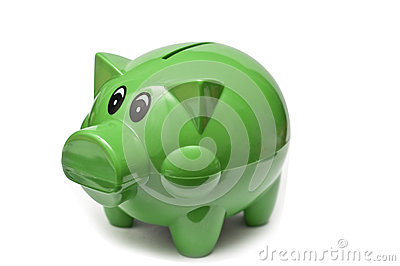 Pig shaped money box