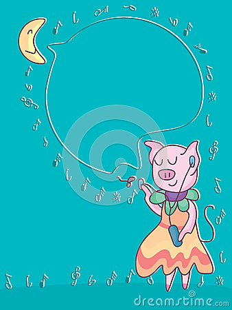 Free Pig Sharing Music_eps Stock Images - 33086294