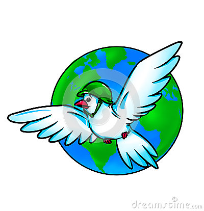 Pigeon globe war and peace
